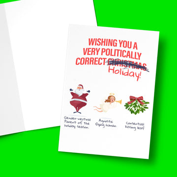 POLITICALLY CORRECT CHRISTMAS CARD Card BanterKing