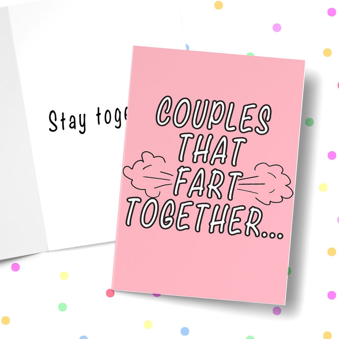 COUPLES THAT FART TOGETHER Card BanterKing