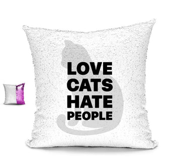 LOVE CATS HATE PEOPLE CUSHION Cushions BanterKing