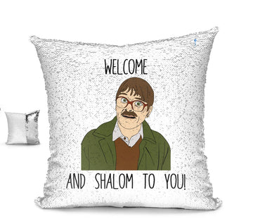 WELCOM SHALOM! CUSHION Cushion BanterKing Silver/White No