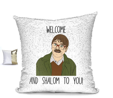 WELCOM SHALOM! CUSHION Cushion BanterKing Pink/White No