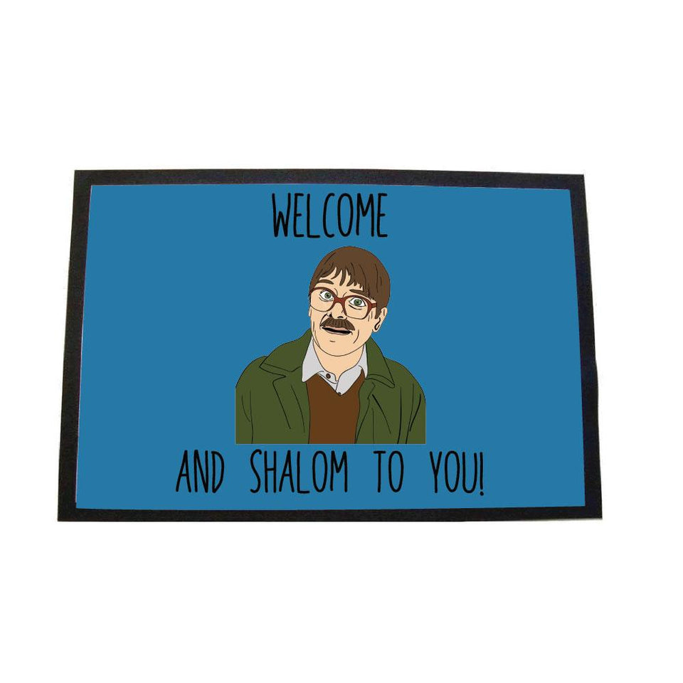 SHALOM LARGE DOOR MAT Door Matt BanterKing Blue 1 MAT