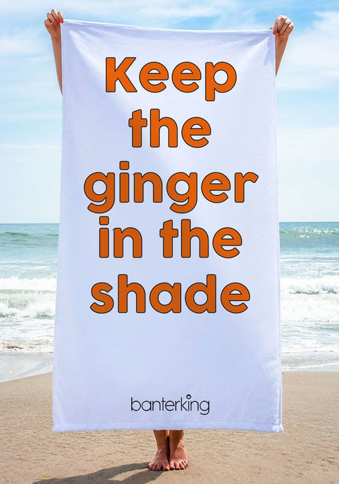 KEEP THE GINGER IN BEACH TOWEL towels BanterKing