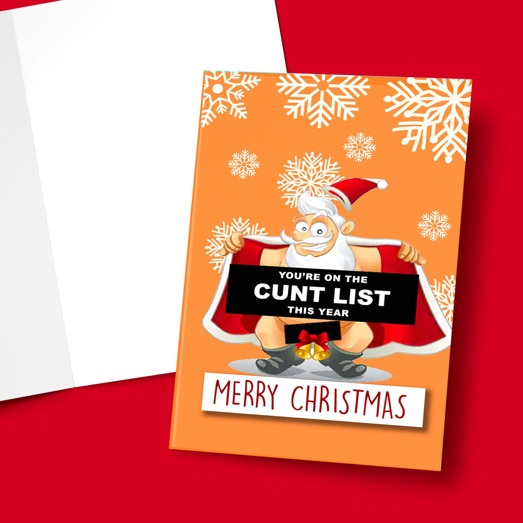 CUNT LIST CHRISTMAS CARD Card BanterKing 1 CARD