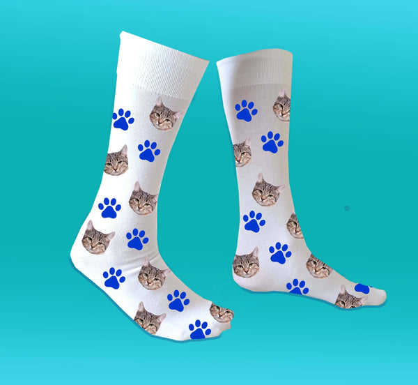 (ADD ANY FACE) MAKE YOUR OWN CAT SOCKS BanterKing