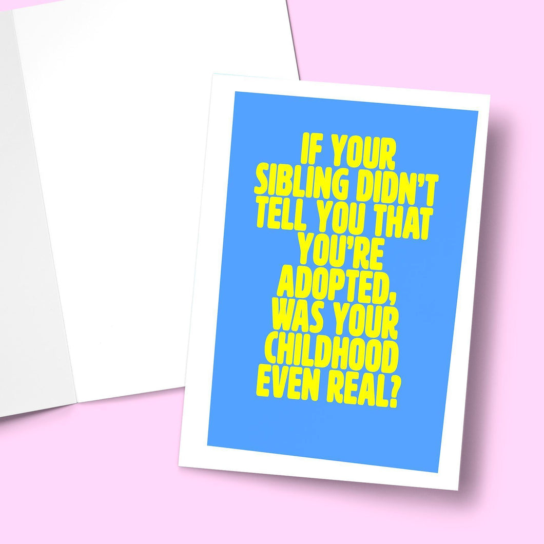 Adopted Sibling Birthday Greeting Card Stationery Prodigi