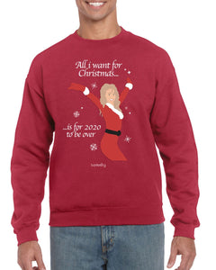 All I Want For Christmas, Christmas Jumper (Unisex) Jumper BanterKing Small Red
