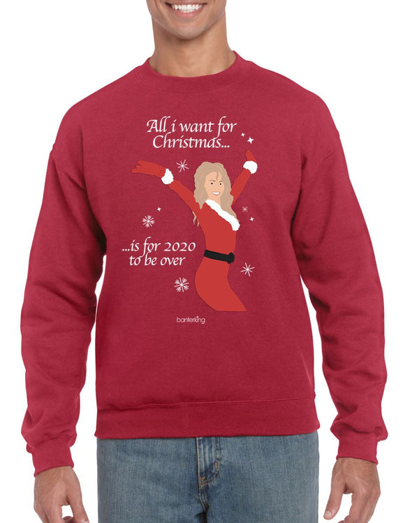 All I Want For Christmas, Christmas Jumper (Unisex) Jumper BanterKing Small Grey