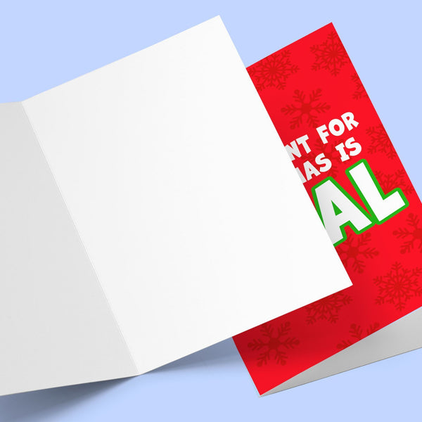 All I Want For Christmas, Greeting Card Stationery Prodigi