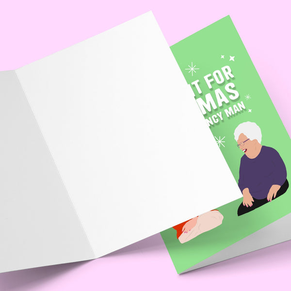 All i want for Christmas is a French fancy man Greeting Card Stationery Prodigi