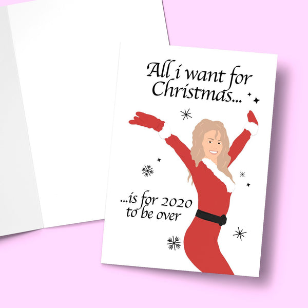 All i want for christmas is for 2020 to be over Greeting Card Stationery Prodigi