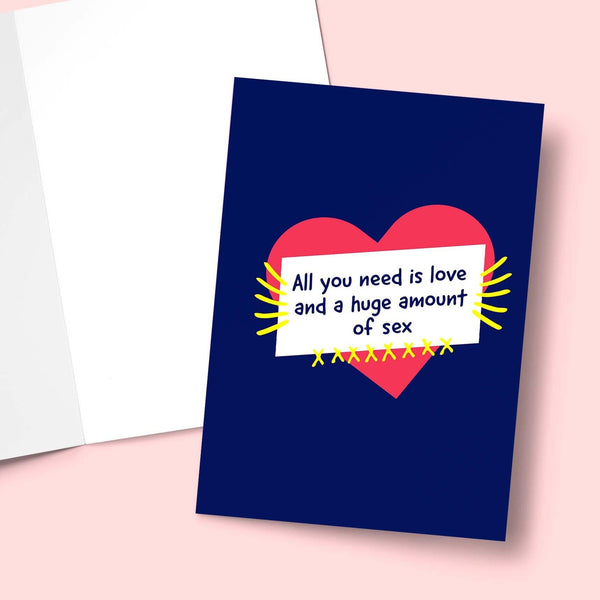All You Need Is Love Valentine's Greeting Card Stationery Prodigi