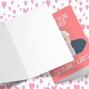 Another Year Together On Planet Earth Valentine's Greeting Card Stationery Prodigi