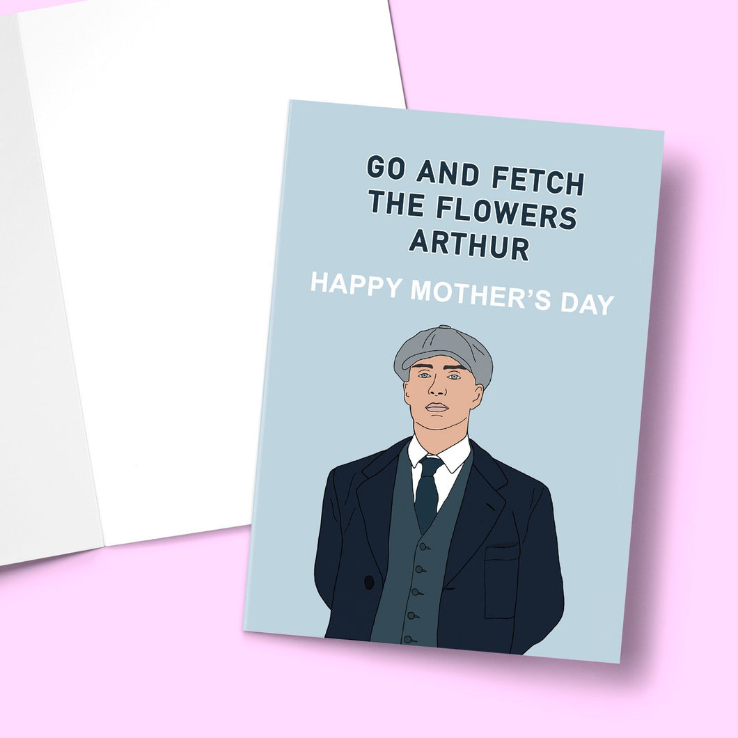 Arthur Fetch The Flowers Mother's Day Greeting Card Stationery Prodigi