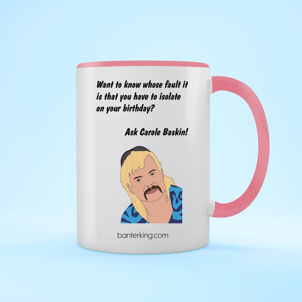 Baskin Birthday Two Toned Mug Mug BanterKing Pink 1 MUG