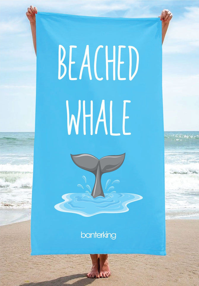 Beached Whale Beach Towel towels BanterKing 1 TOWEL