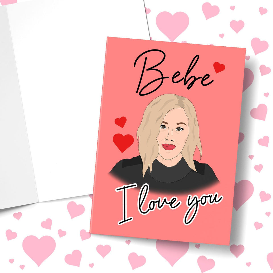 Bebe I Love You Valentine's Greeting Card Stationery Prodigi