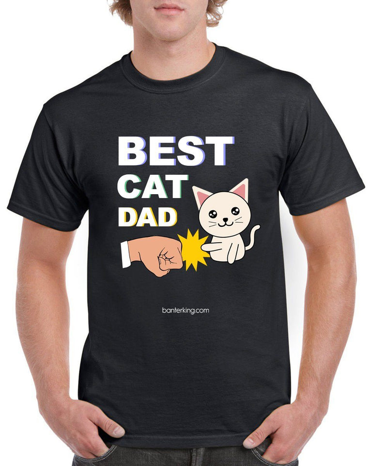Best Cat Dad Farther's Day T-Shirt T'shirt BanterKing Small Male