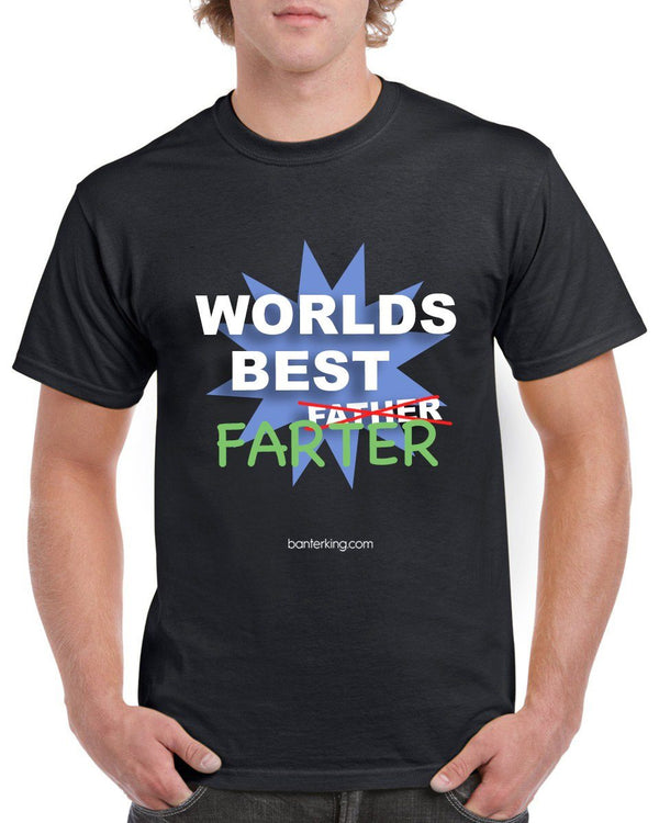 Best Farther Farther's Day T-Shirt T'shirt BanterKing Small Male