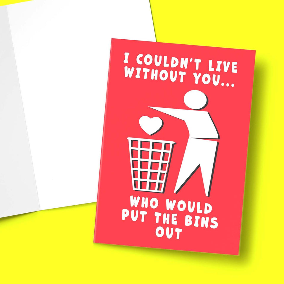 Bins Out Valentine's Greeting Card Stationery Prodigi
