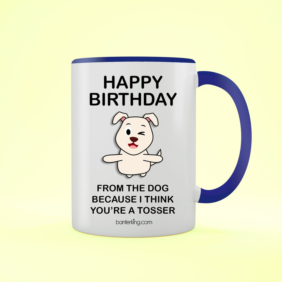 Birthday Dog Two Toned 11oz Birthday Mug Mug BanterKing Blue 1 MUG