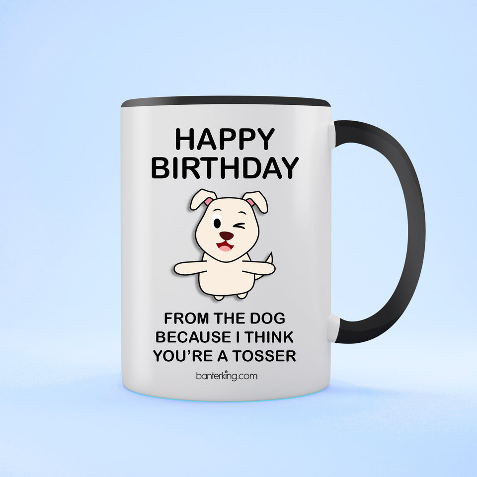 Birthday Dog Two Toned 11oz Birthday Mug Mug BanterKing Black 1 MUG
