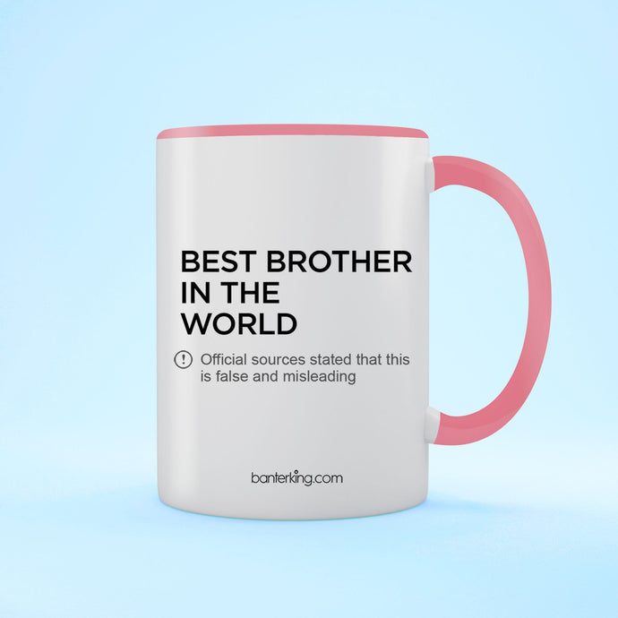 Brother Official Sources Two Toned Mug Mug BanterKing Pink