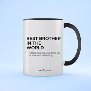 Brother Official Sources Two Toned Mug Mug BanterKing Black