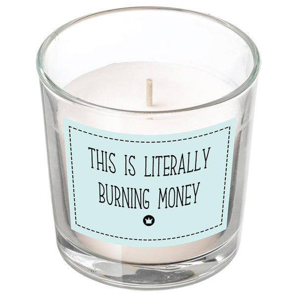 BURNING MONEY CANDLE BanterKing White/Vanilla