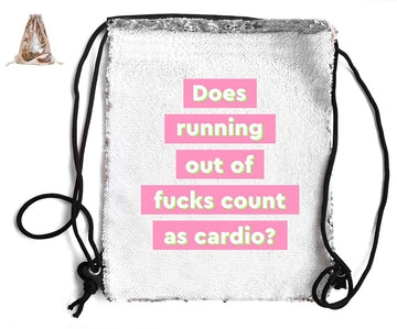 DOES RUNNING OUT F*CKS COUNT... SEQUIN SPORTS BAG
