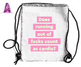 DOES RUNNING OUT F*CKS COUNT... SEQUIN SPORTS BAG Sequin Bags BanterKing Pink
