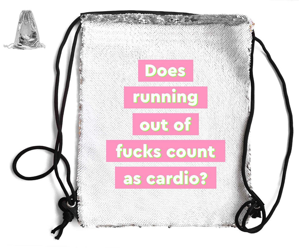 DOES RUNNING OUT F*CKS COUNT... SEQUIN SPORTS BAG Sequin Bags BanterKing Silver