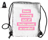 DOES RUNNING OUT F*CKS COUNT... SEQUIN SPORTS BAG Sequin Bags BanterKing Black
