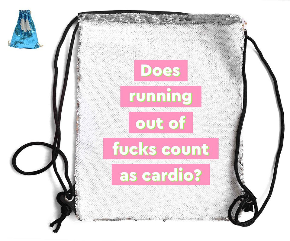DOES RUNNING OUT F*CKS COUNT... SEQUIN SPORTS BAG Sequin Bags BanterKing Blue