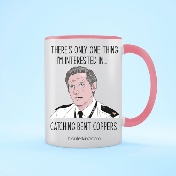 Catching Bent Coppers Line of Duty Two Toned Mug Mug Banter King Pink