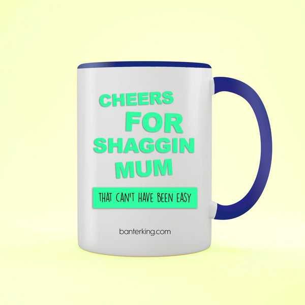 Cheers For Mum Two Toned 11oz Farther's Day Mug Mug BanterKing Black 1 MUG