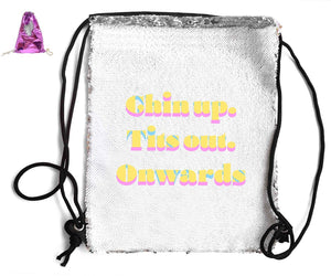 SEQUIN SPORTS BAG Sequin Bags BanterKing Pink