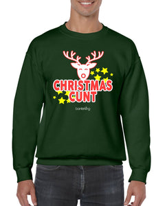 CHRISTMAS C*NT CHRISTMAS JUMPER Jumper BanterKing SMALL GREEN 1 JUMPER