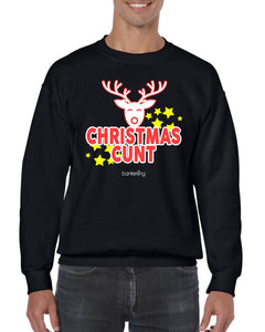 CHRISTMAS C*NT CHRISTMAS JUMPER Jumper BanterKing SMALL BLACK 1 JUMPER