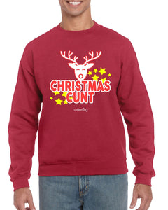 CHRISTMAS C*NT CHRISTMAS JUMPER Jumper BanterKing SMALL RED 1 JUMPER