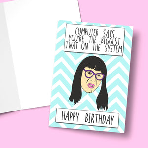 Computer Says Biggest Twat System Greeting Card Stationery Prodigi