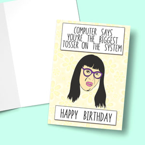 Computer Says... You're The Biggest Tosser On The System! Greeting Card Stationery Prodigi