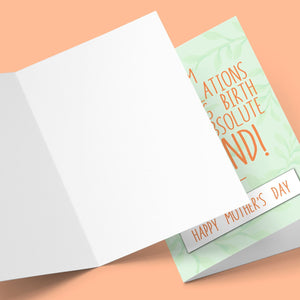Congratulations On Giving Birth Mother's Day Card Stationery Prodigi