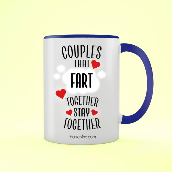 Couples That Fart Together Valentine's Two Toned Large 11oz Mug Mug Inkthreadable Red