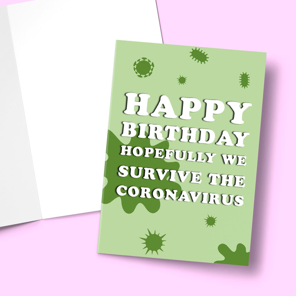 "Covid Birthday Card Stationery Prodigi 5""x7"" 1 Card"