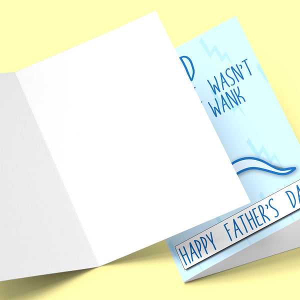 Dad I'm Glad I Wasn't Just A W, Father's Day Card Stationery Prodigi