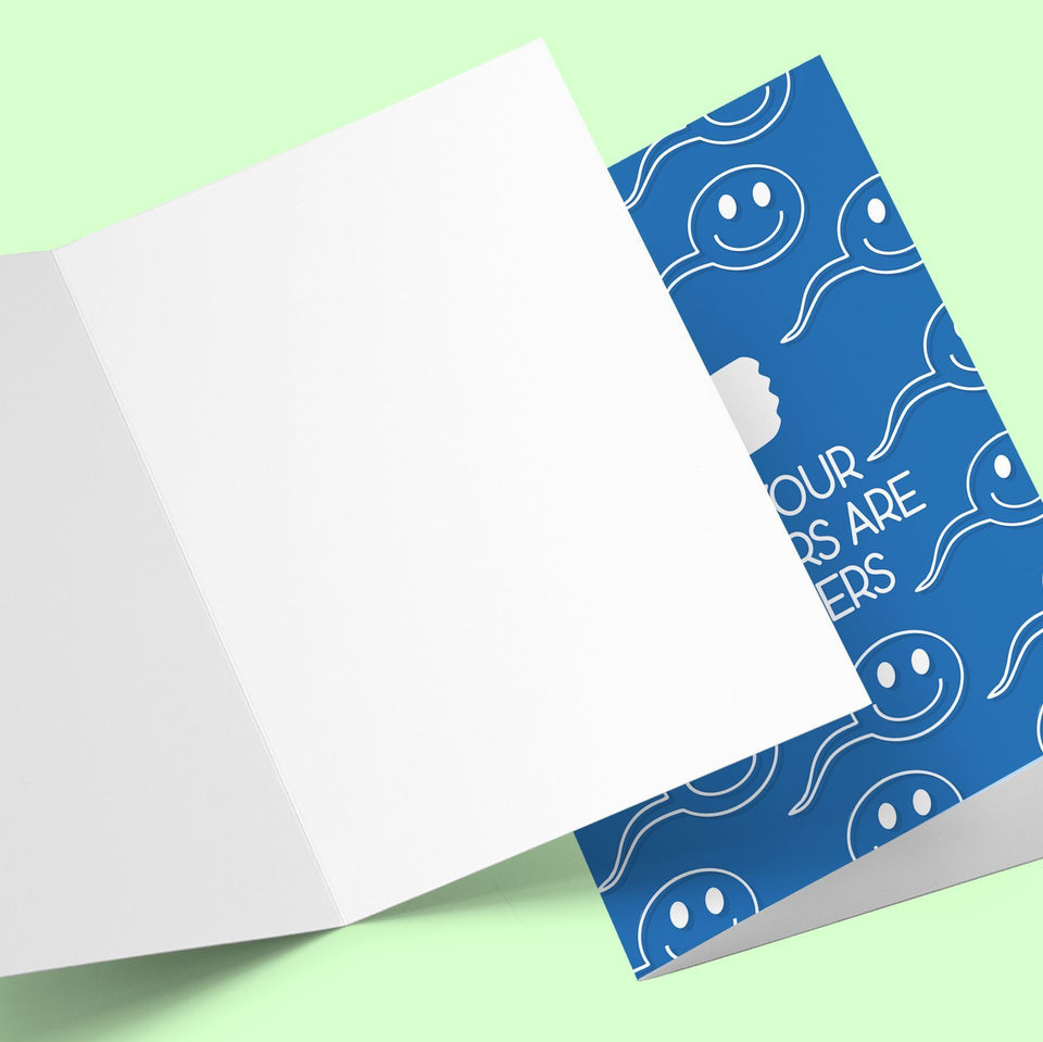 Dad your swimmers are winners Greeting Card Stationery Prodigi