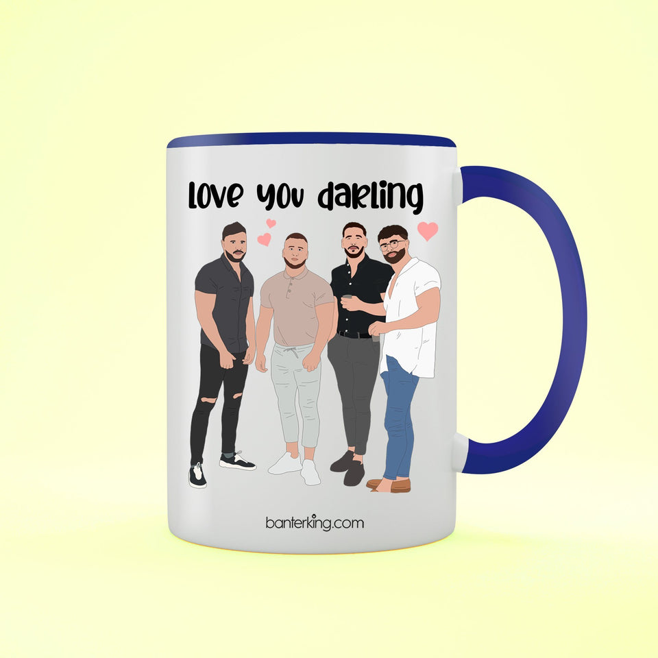 Darling, Valentine's Two Toned 11oz Mug Mug Inkthreadable