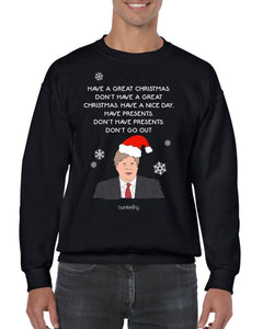 Don't Go Out Christmas Jumper Jumper BanterKing SMALL BLACK