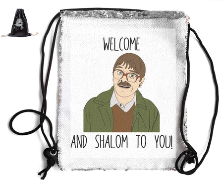 WELCOME AND SHALOM SEQUIN SPORTS BAG Sequin Bags BanterKing Pink 1 BAG